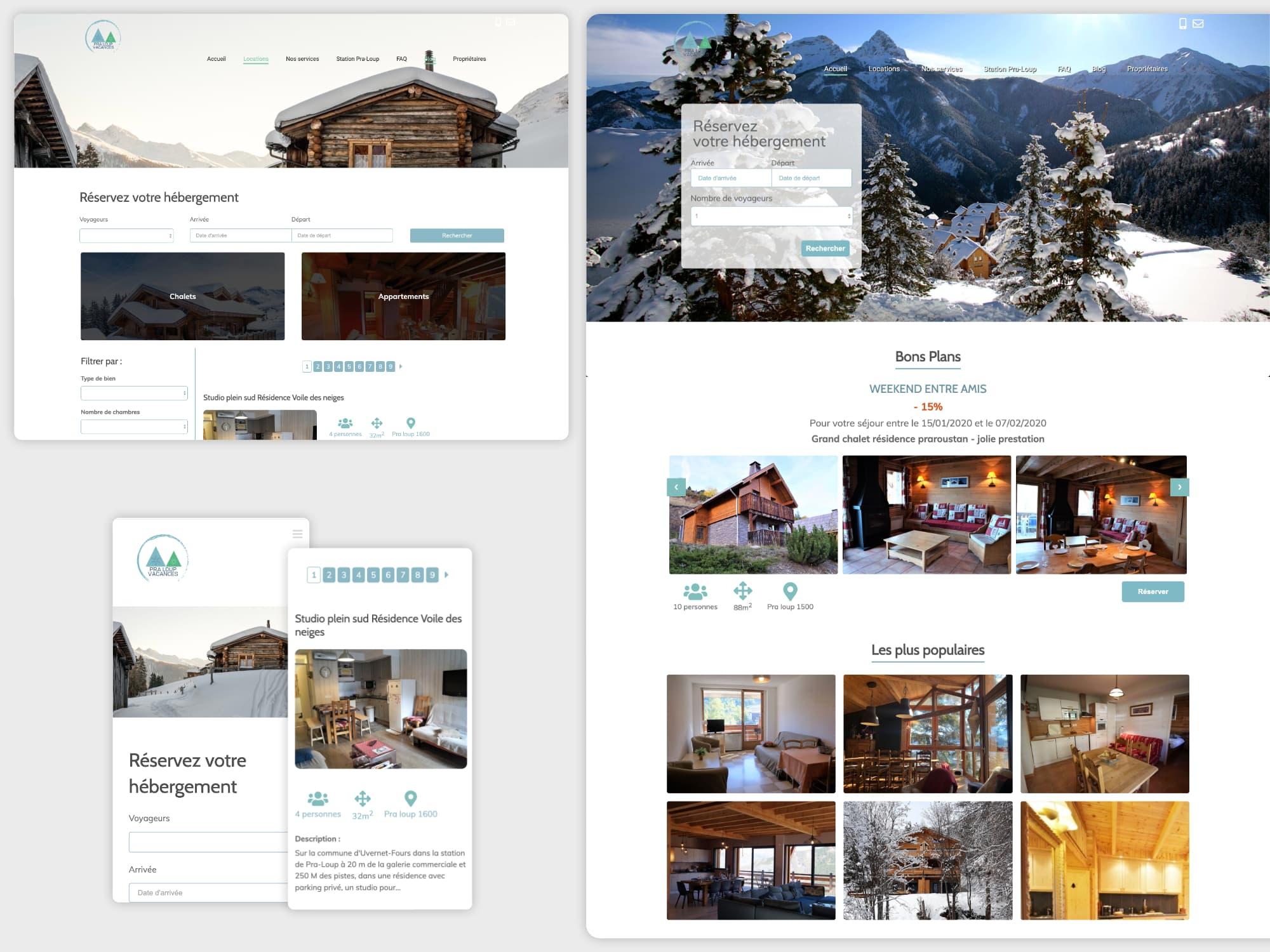 Création site Internet réservation en ligne